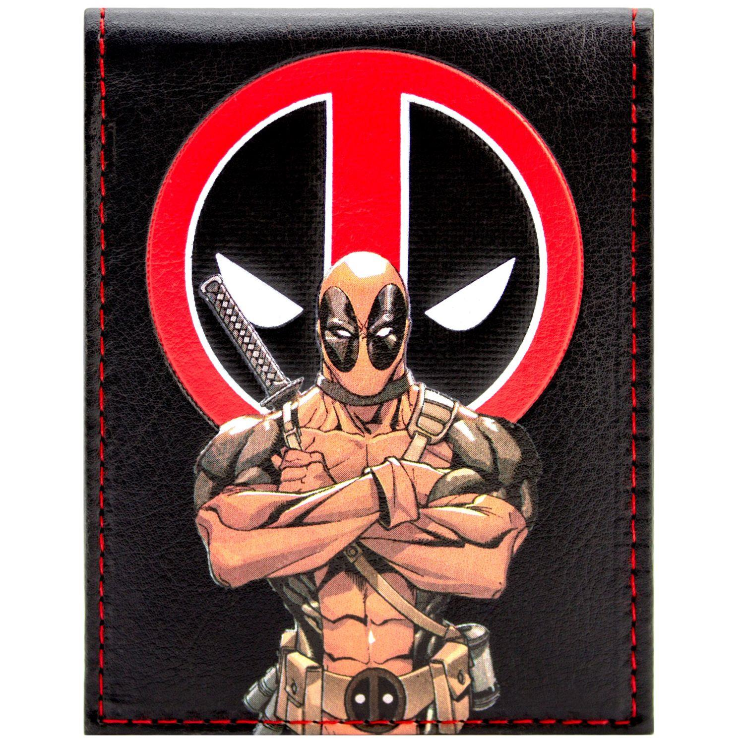 Details About New Official Cool Deadpool Animated Character Symbol Bi Fold Wallet
