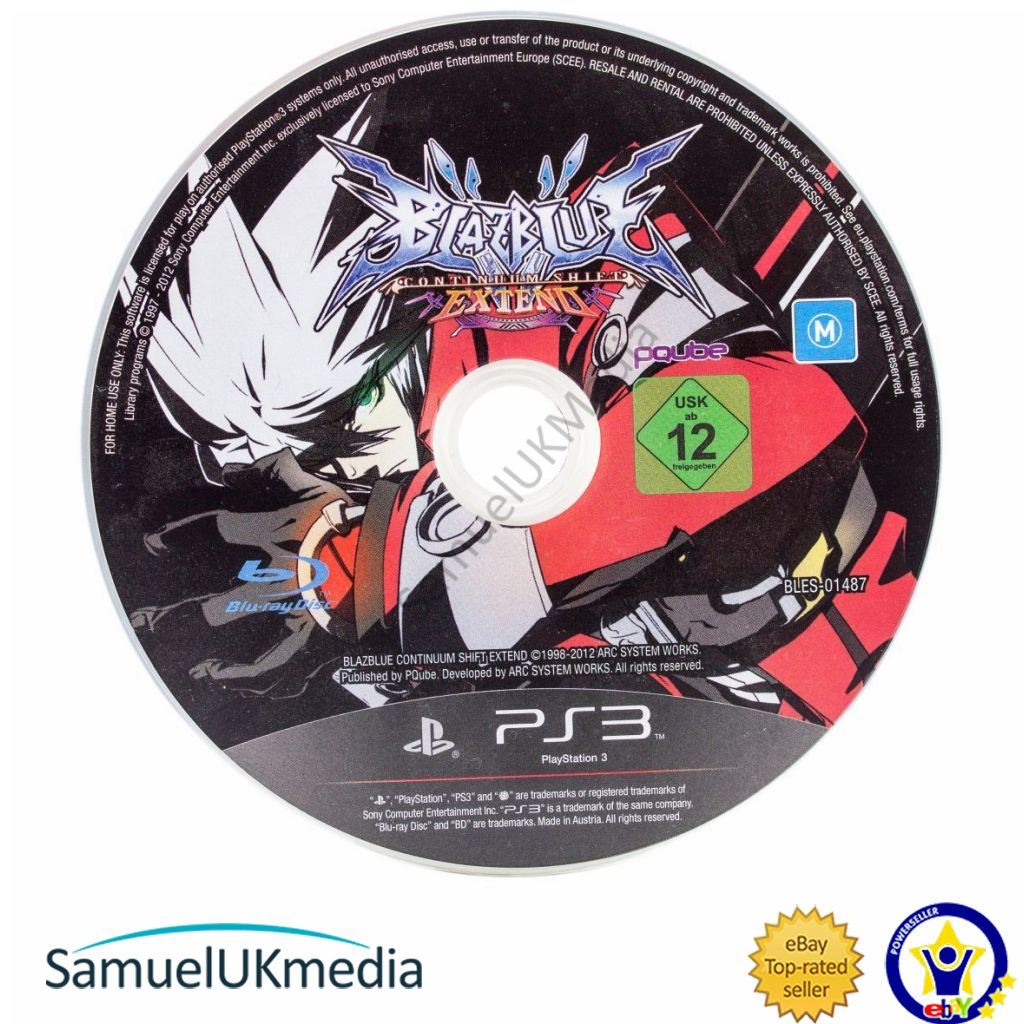 Details about BlazBlue Continuum Shift: Extend (PS3) (Disc Only) **GREAT  CONDITION**