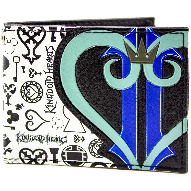 Official Kingdom Hearts Symbols Heart Logo Black Id Card Wallet