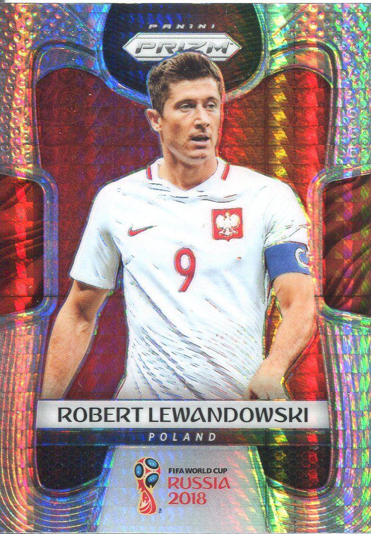 Panini Prizm Copa del Mundo 2018 tarjeta base #146 Robert Lewandowski-Polonia