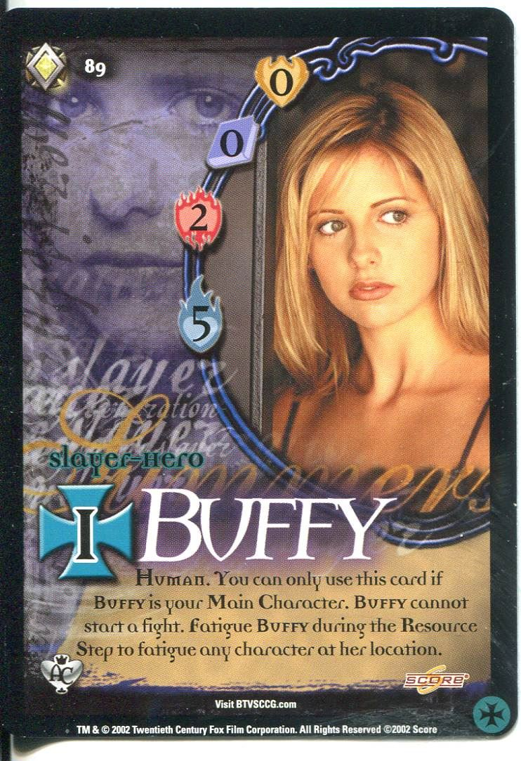 Buffy CCG TCG Angels Curse Unlimited Edition Card #89 Buffy Summers