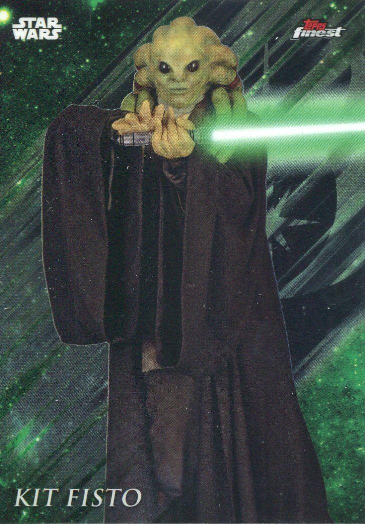 Star Wars Galactic Files Reborn Blue Parallel Base Card AOTC-17 Kit Fisto