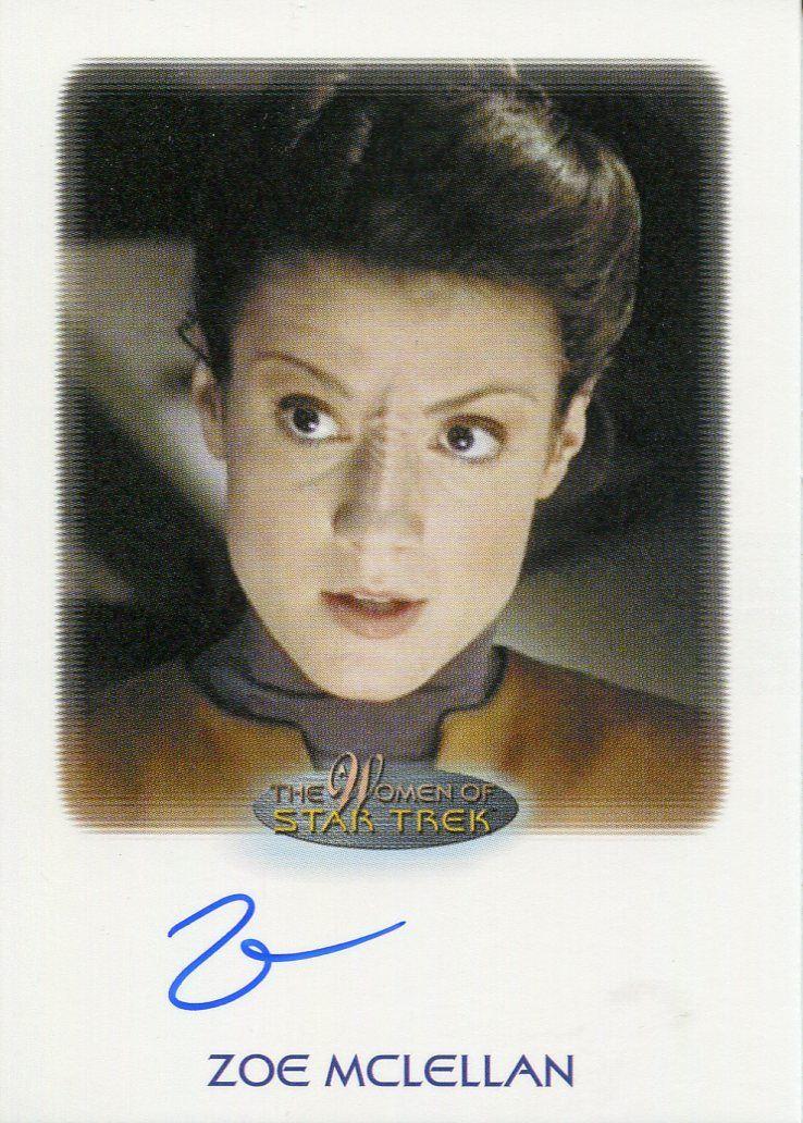Details About Star Trek Women Of 50th Anniversary Autograph Card Zoe Mclellan As Tal Celes