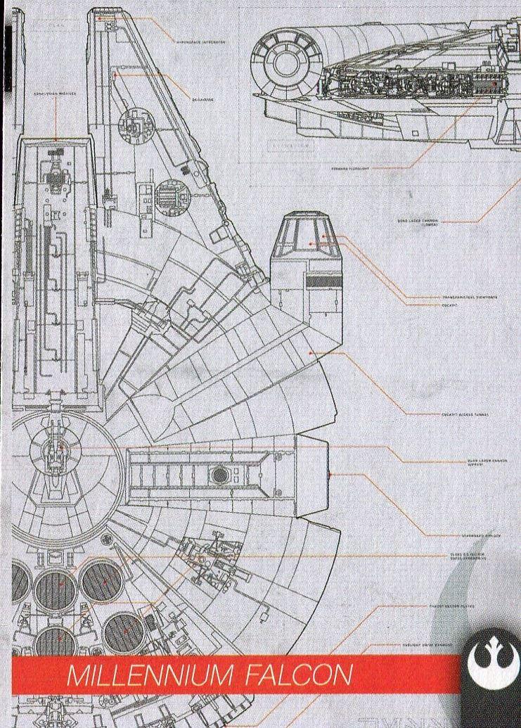 TROS Complete Schematics Chase Card Set S1-10 Star Wars JT