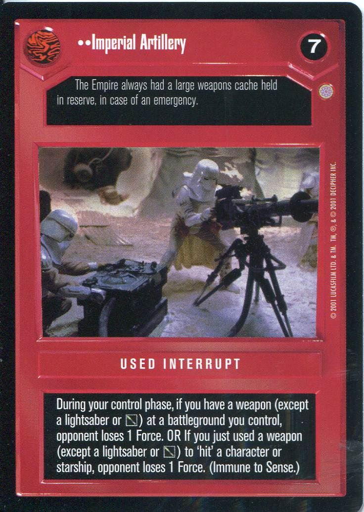 Star Wars CCG CORUSCANT You/'ve Got A Lot Of Guts Coming Here