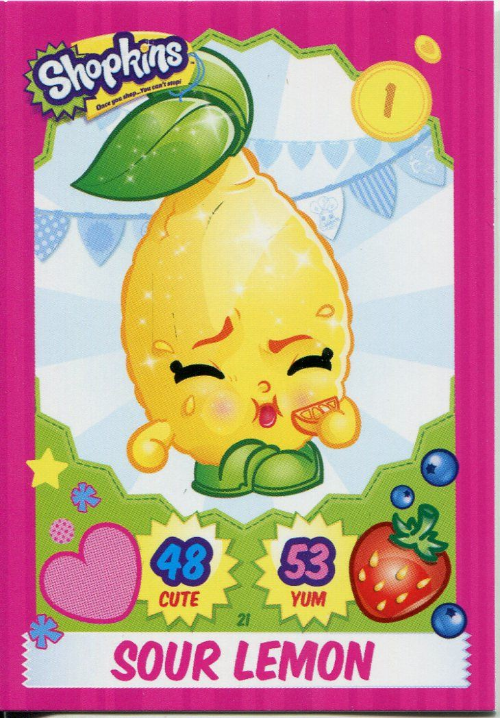 Topps Shopkins Series 1-4 Trading Cards Base Card #91 Prommy