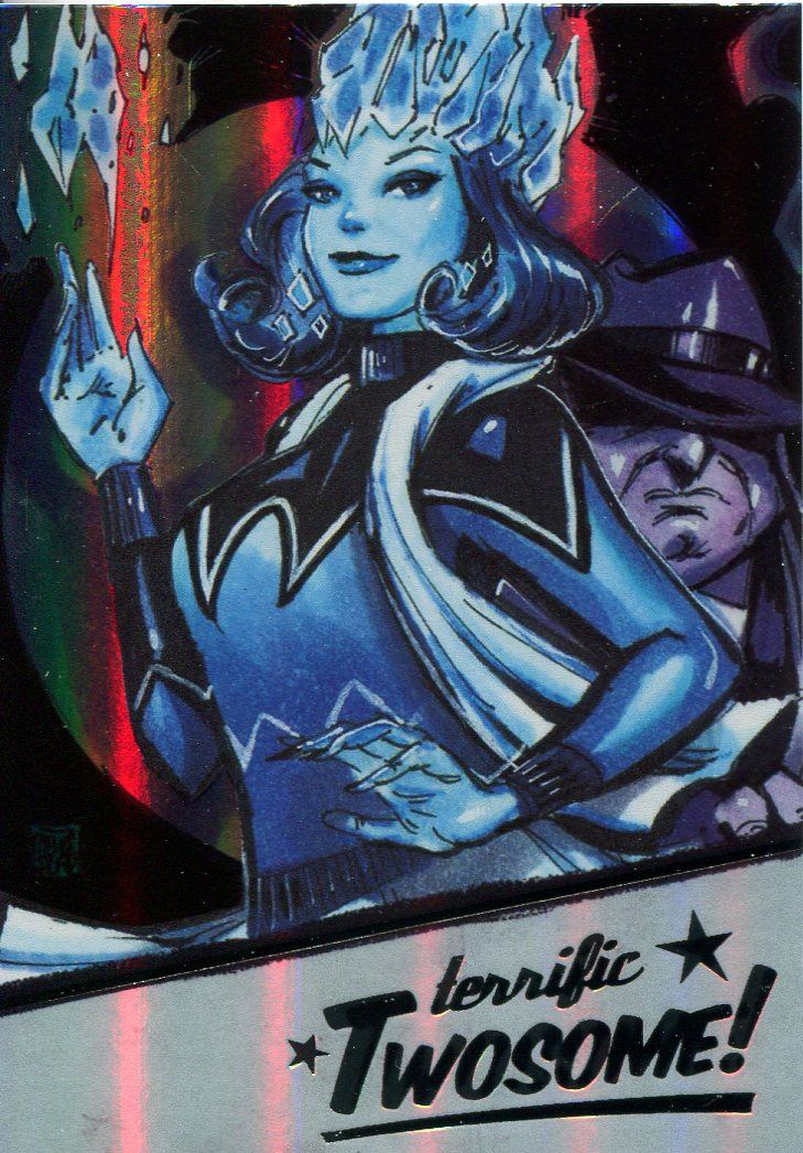 DC Comics Bombshells 2 Gold Deco Twosome Chase Card T5 Catwoman /& Batman