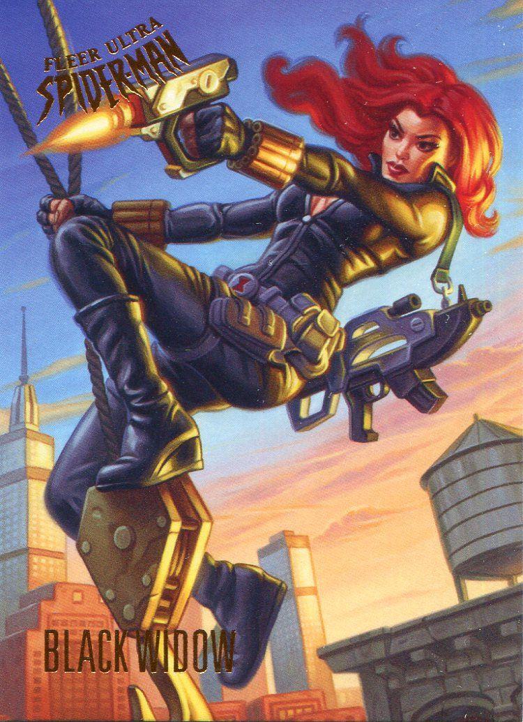 Spiderman Fleer Ultra 2017 Base Card #54 Black Widow