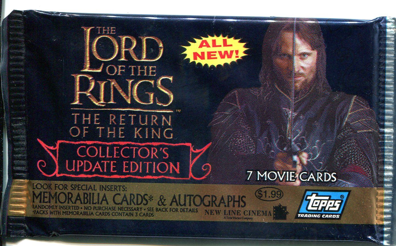 Pack Lord Of The Rings Masterpieces Series 2 Factory Sealed Hobby Packet