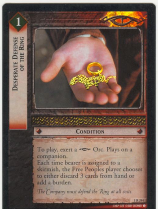 Lord Of The Rings CCG FotR Card 1.R244 Desperate Defense Of The Ring