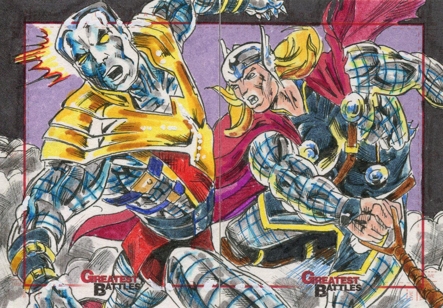 Marvel /'Storm vs Sentinel/' Greatest Battles Black Bar Overprint Phone Card