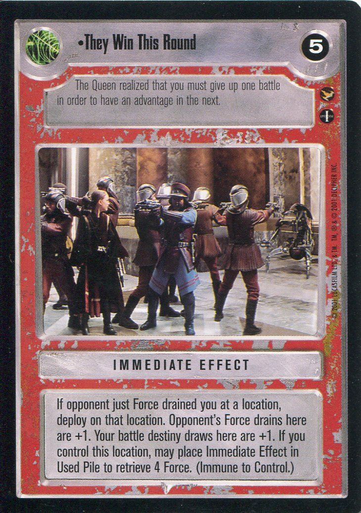 Star Wars CCG Theed Palace Rayno Vaca