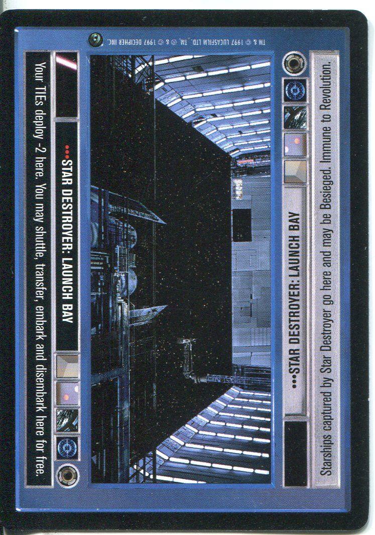 Launch Bay Star Wars CCG Dagobah Unlimited WB Star Destroyer