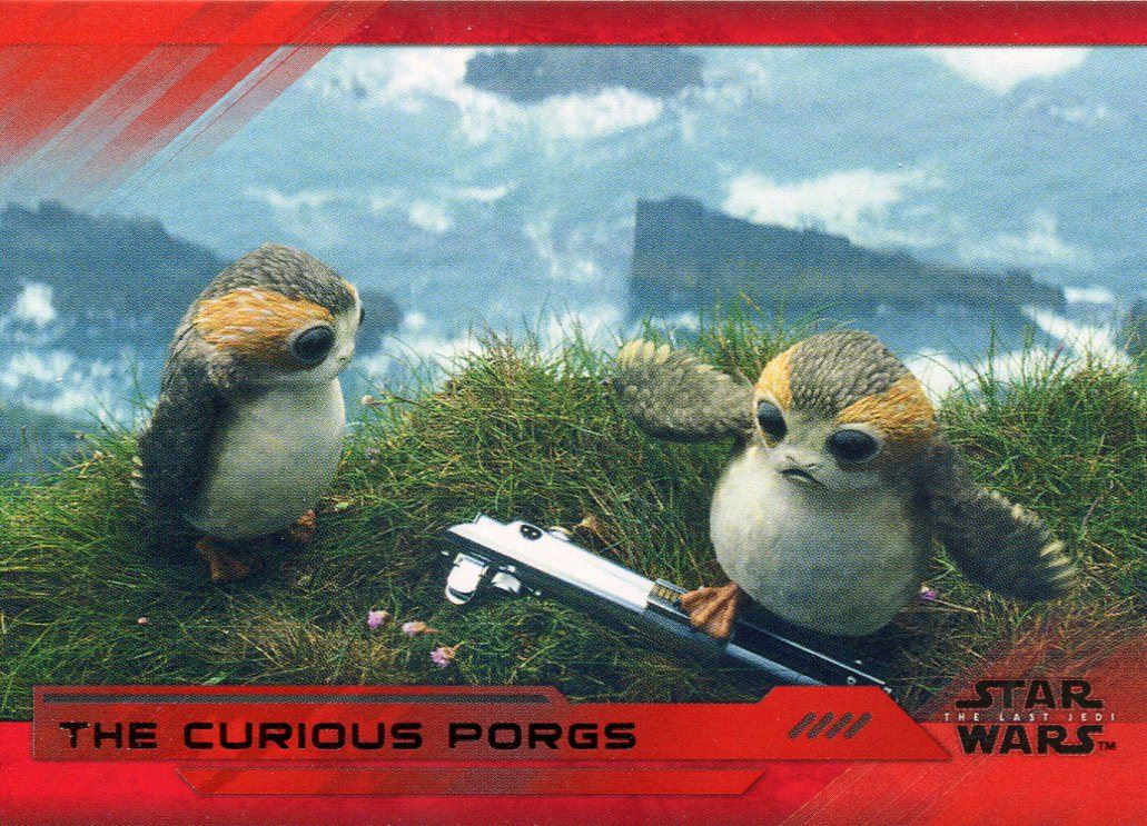 199 Base Card #44 Surrounded by Porgs Star Wars Last Jedi S2 Red