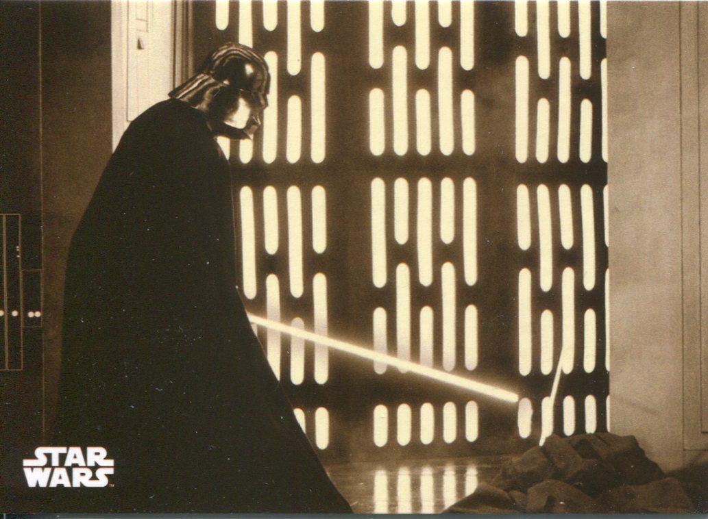Star Wars ANH Black /& White Sepia Base Card #5 Darth Vader/'s Fury