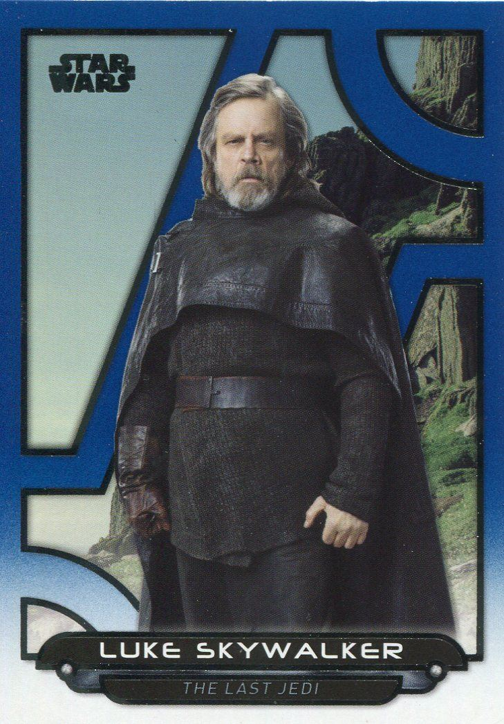 Star Wars Galactic Files Reborn Blue Parallel Base Card TFA-30 Luke Skywalker