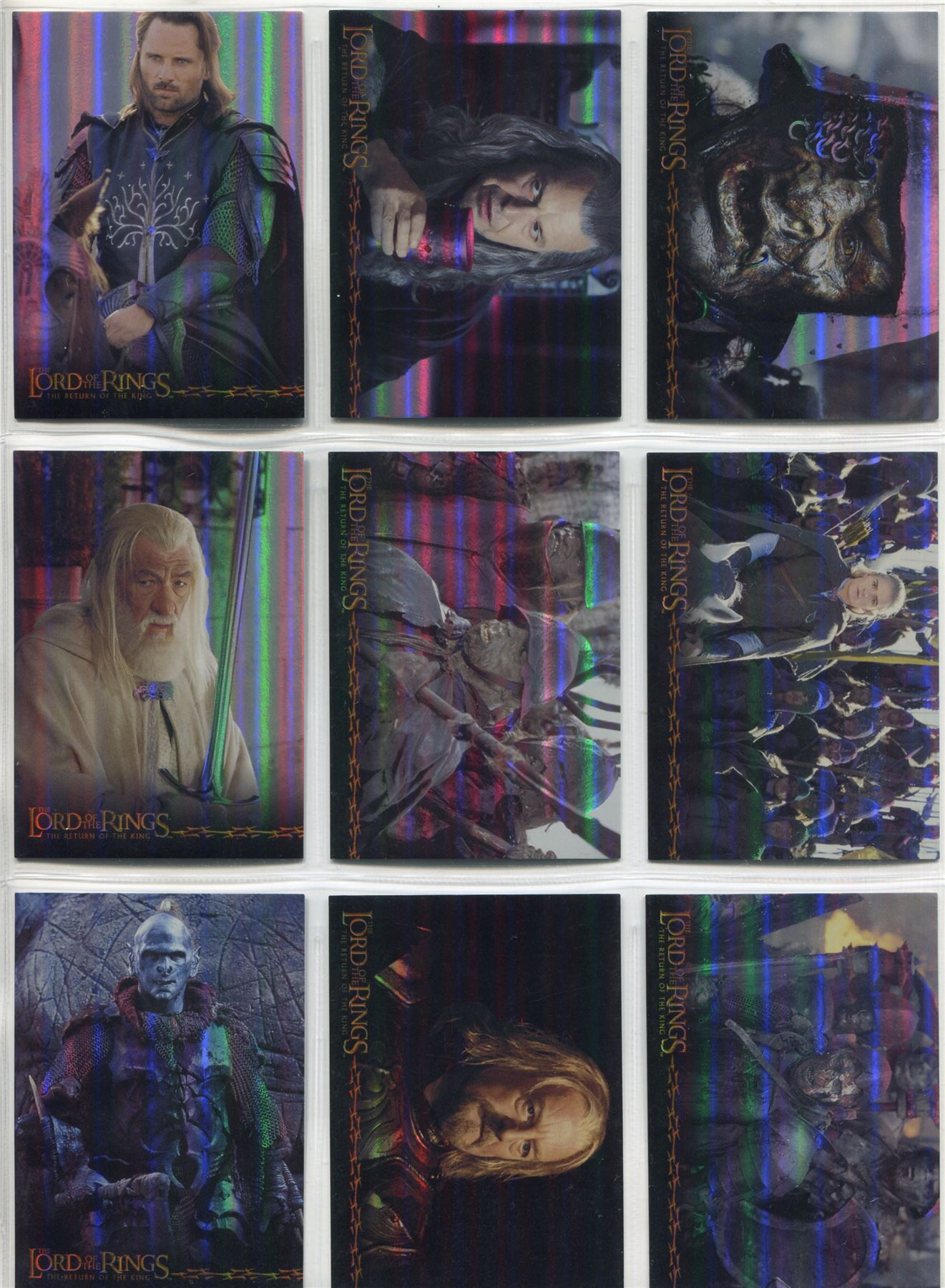 Lord Of The Rings FotR Complete Special Foil Chase Card Set 1-10