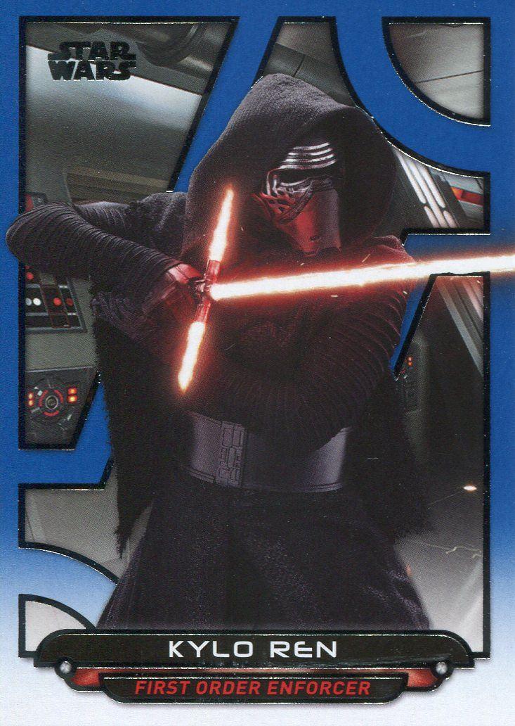 Star Wars Galactic Files Reborn Blue Parallel Base Card TFA-20 Snap Wexley