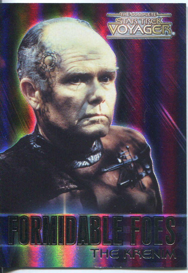 Complete Star Trek Voyager Formidable Foes Chase Card F2