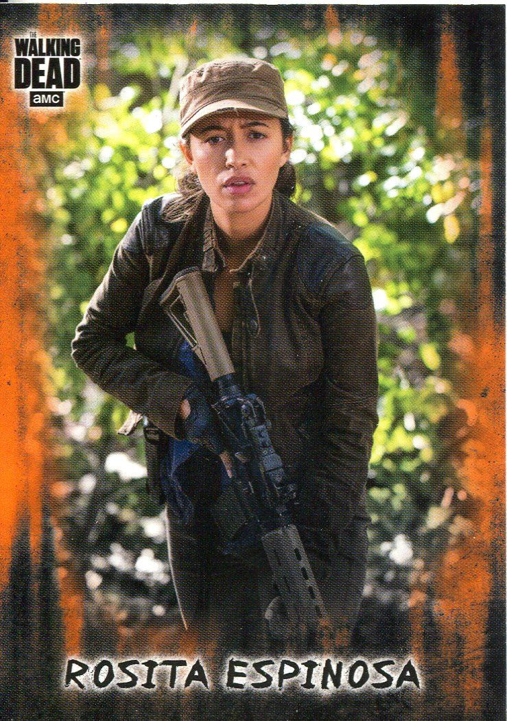 Details About Walking Dead Hunters Hunted Orange Base Card 12 Rosita Espinosa
