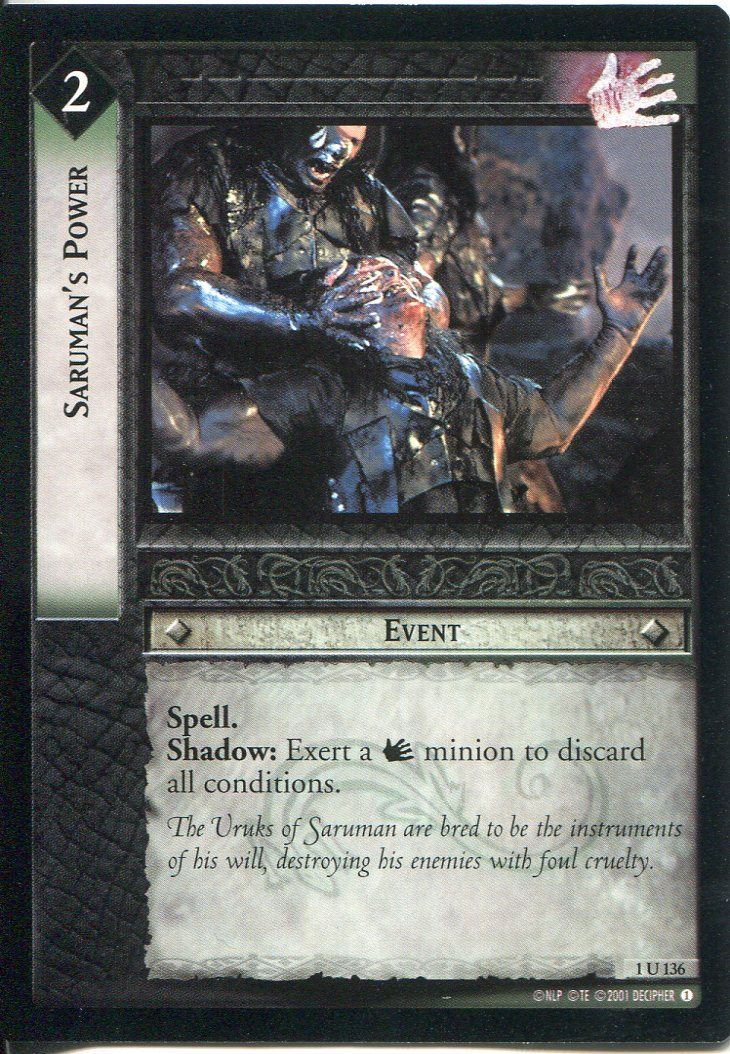 Lord Of The Rings CCG FotR Card 1.U316 A Talent For Not Being Seen