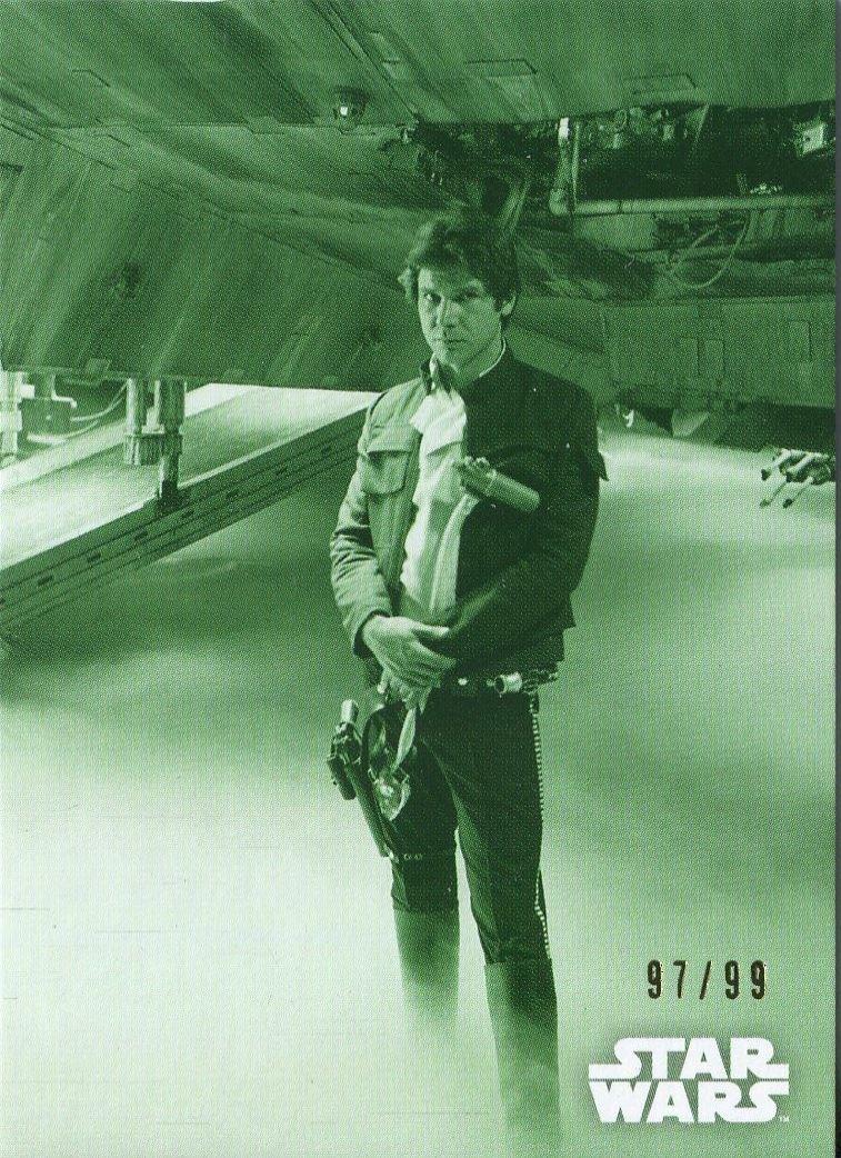 Star Wars ESB Black /& White Sepia Base Card #21 Repairing the Falcon