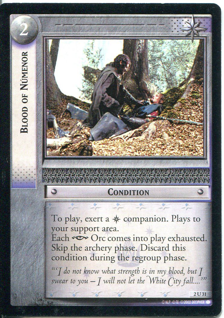 Lord Of The Rings CCG Card RotEL 3.C43 Might Of Numenor