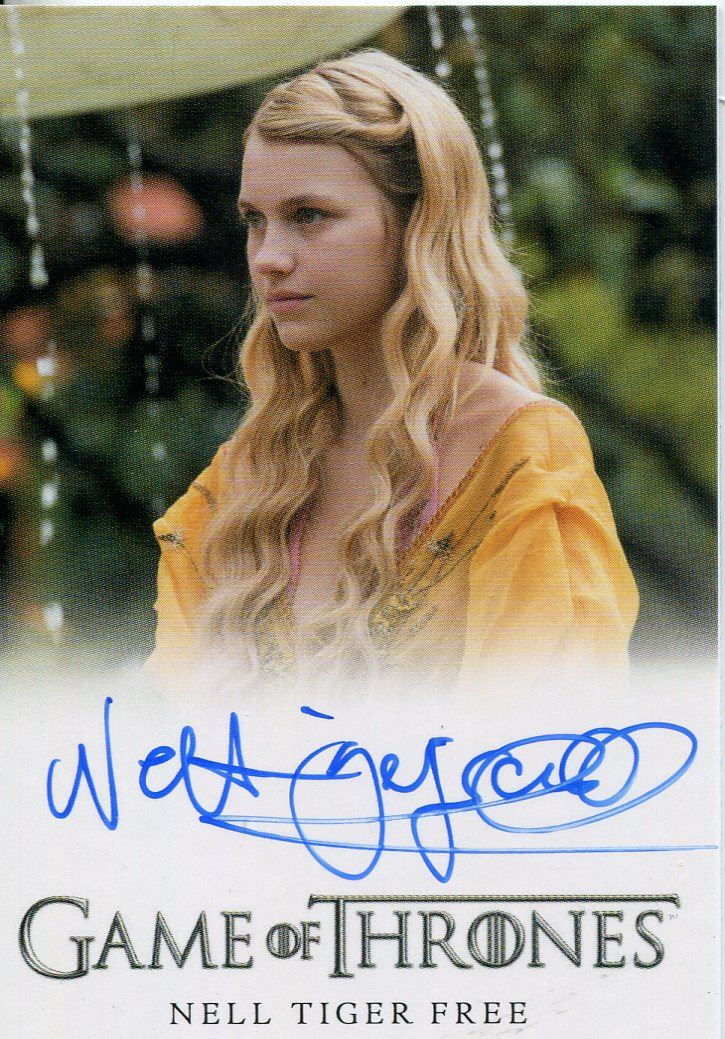 Details About Game Of Thrones Season 7 Autograph Card Fb Nell Tiger Free As Myrcella