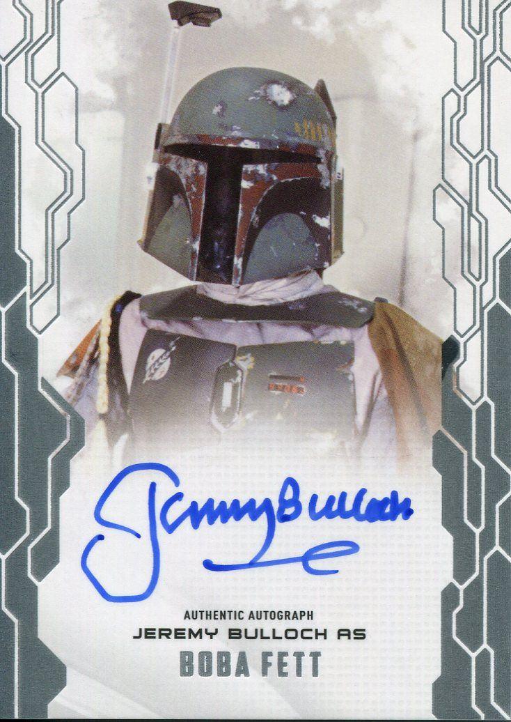 Topps Star Wars Card Trader FINEST 2019 SIGNATURE Jeremy Bulloch as Boba Fett