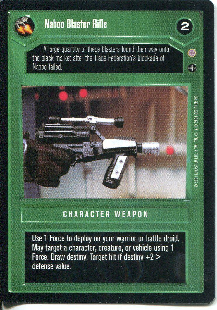 Star Wars CCG Coruscant Battle Droid Blaster Rifle