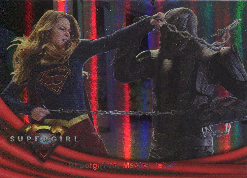 Red Tornado Supergirl Season 1 Rainbow Foil Base Card #21 Supergirl vs