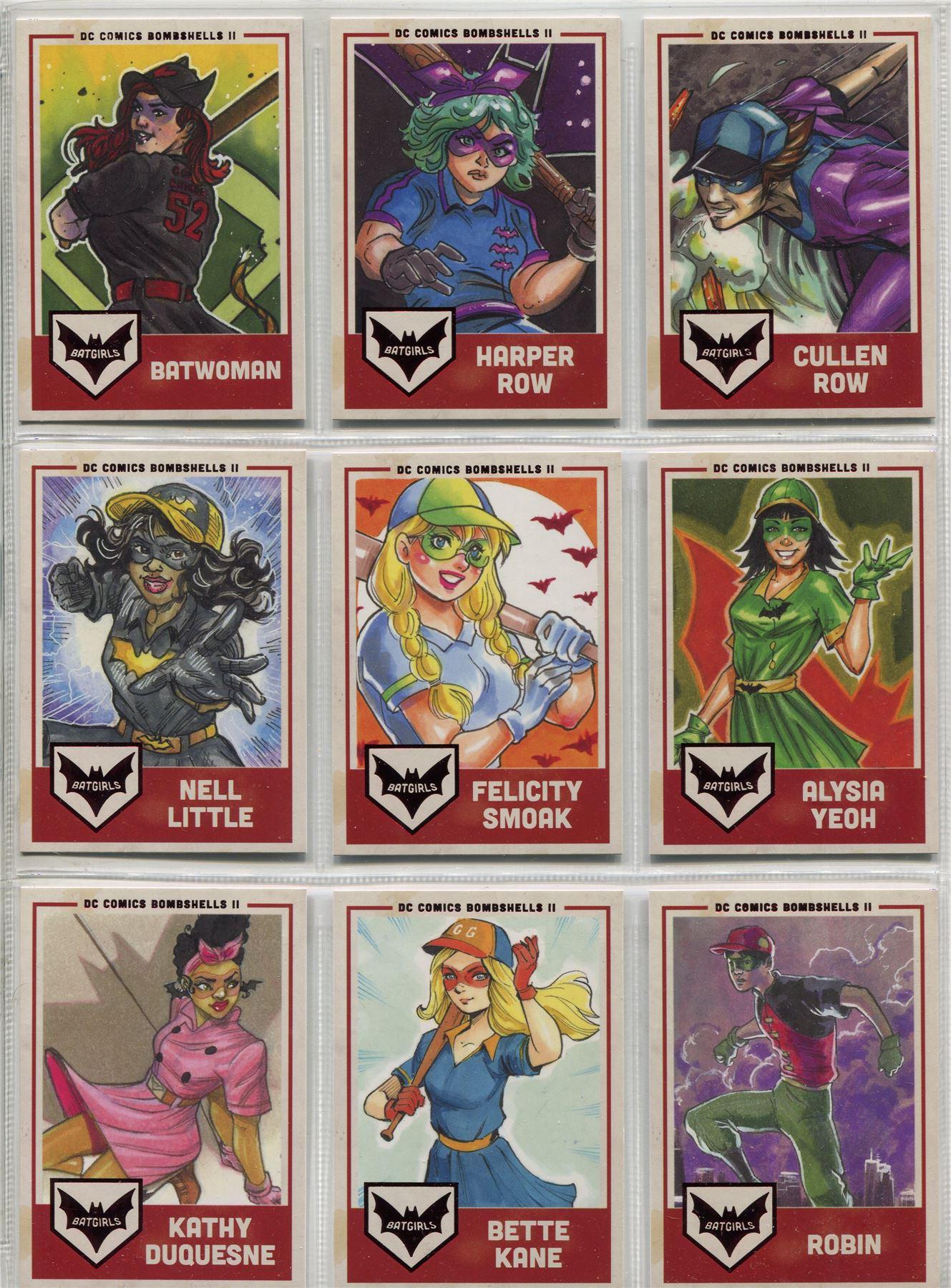 DC Comics Bombshells 2 Complete Membership Chase Card Set V1-9
