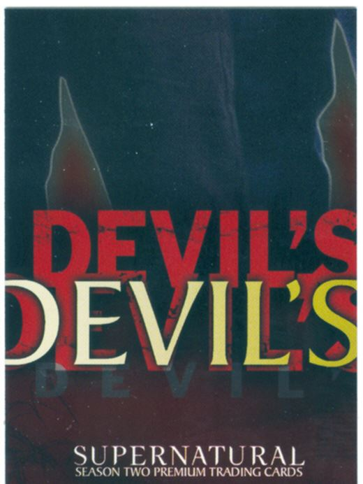 Supernatural Season 2 Chase Card The Devils Due DD-1 The Truth About Sam