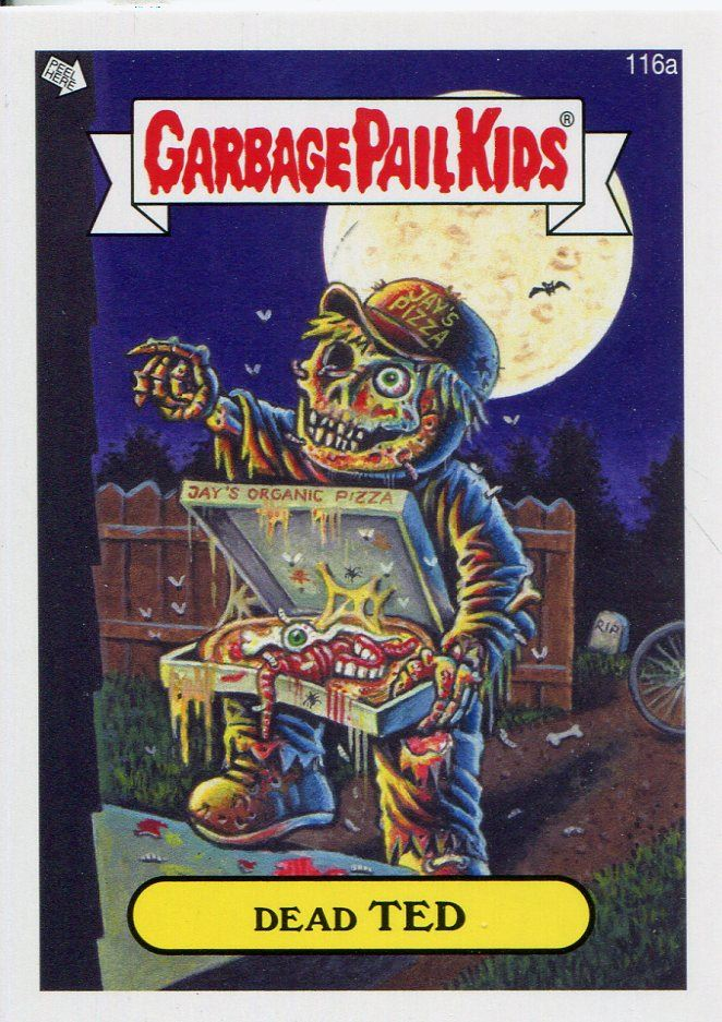 Garbage Pail Kids Mini Cards 2013 Black Parallel Base Card 197a Beasty BOB