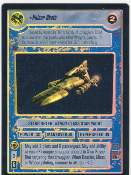 Star Wars CCG Reflections 3 III Foil Pulsar Skate