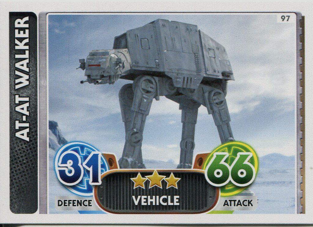Force Awakens Set 1 #97 AT-AT Walker Star Wars Force Attax