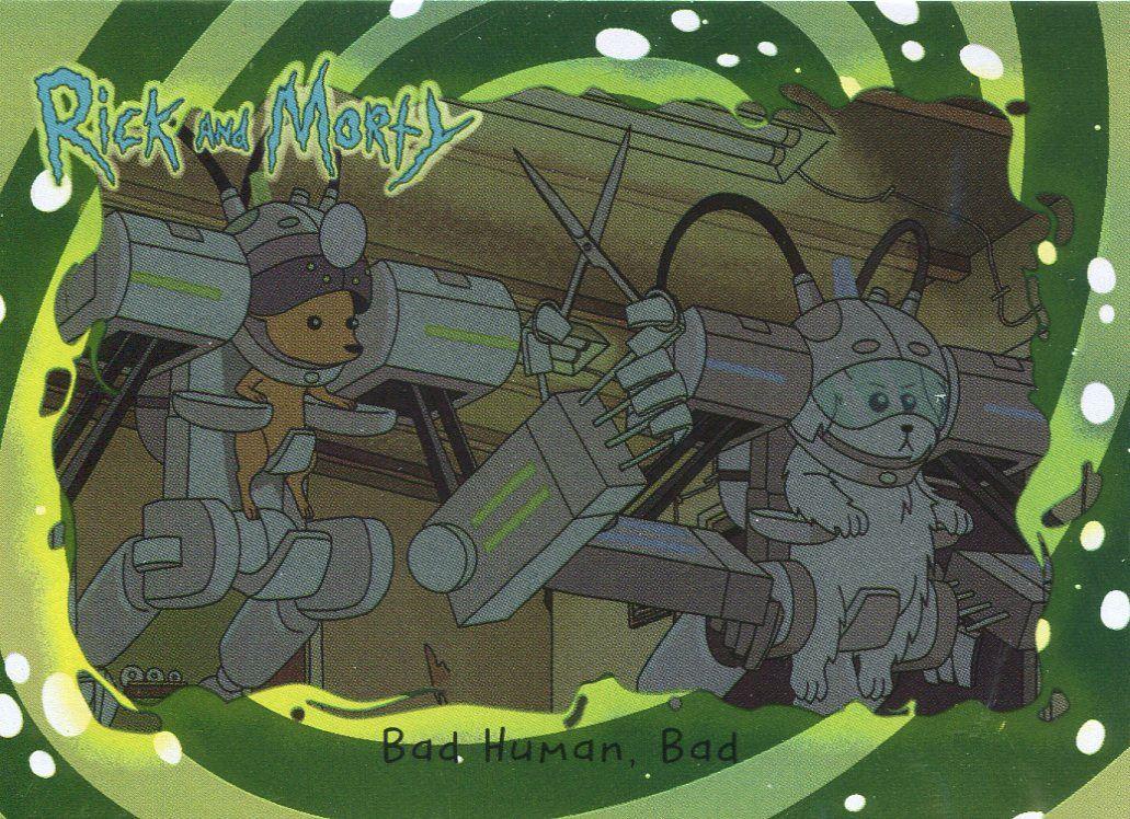 Bad Rick And Morty Season 1 Foil Base Card #08 Bad Human