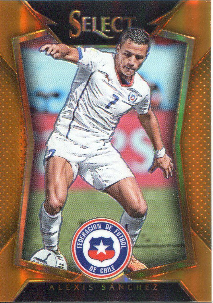 Chile Panini Select Soccer 2015 Base Card #2 Alexis Sanchez