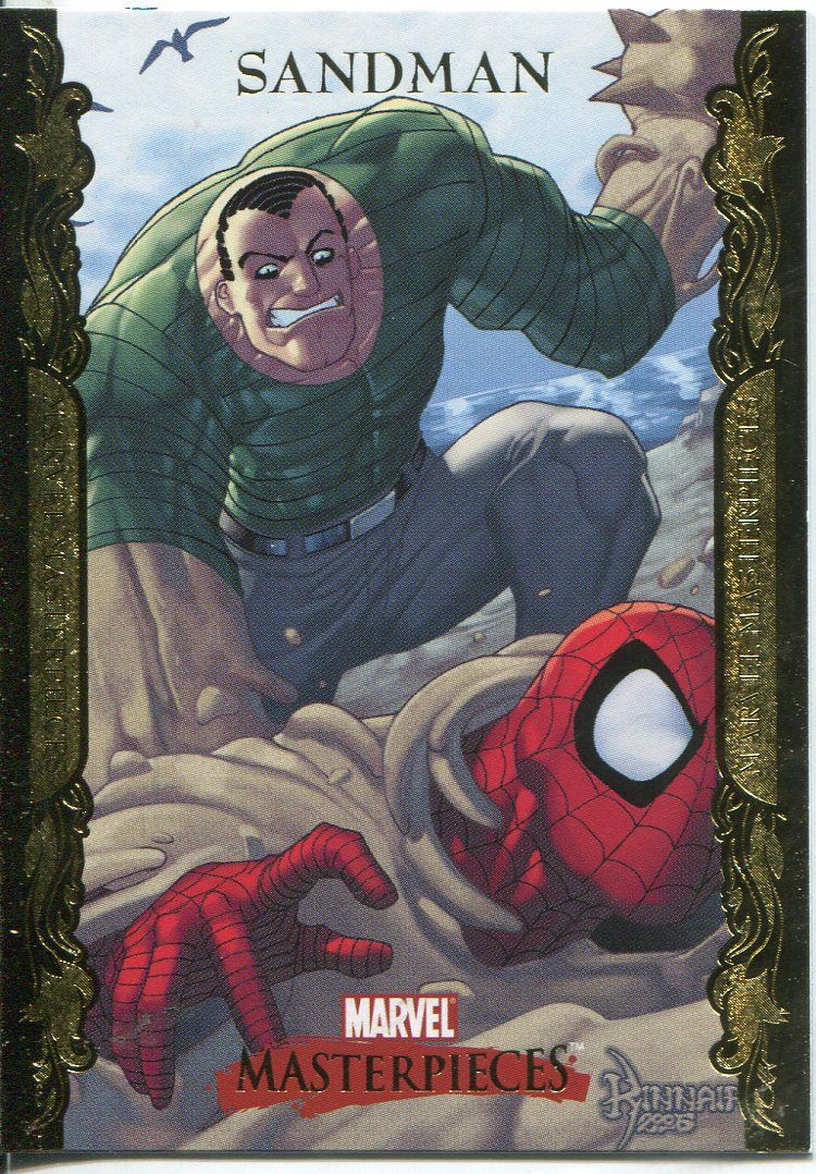 Marvel Masterpieces 2007 UD Gold Border Parallel Base Card #71 Sandman