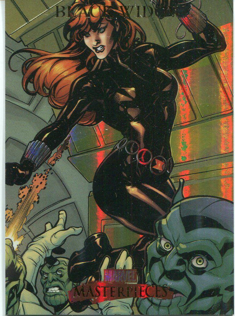Marvel Masterpieces 2007 Base Card #11 Black Widow