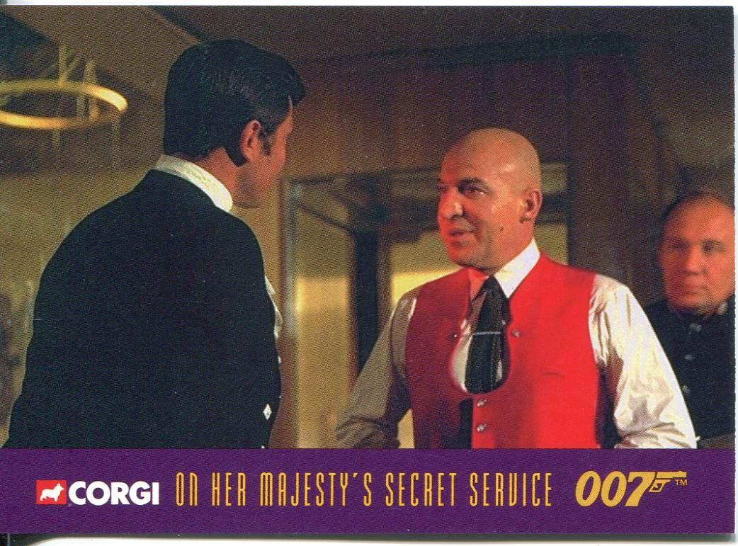 James Bond Corgi Cars Exclusive Trading Card #23 On Her Majestys Secret Service