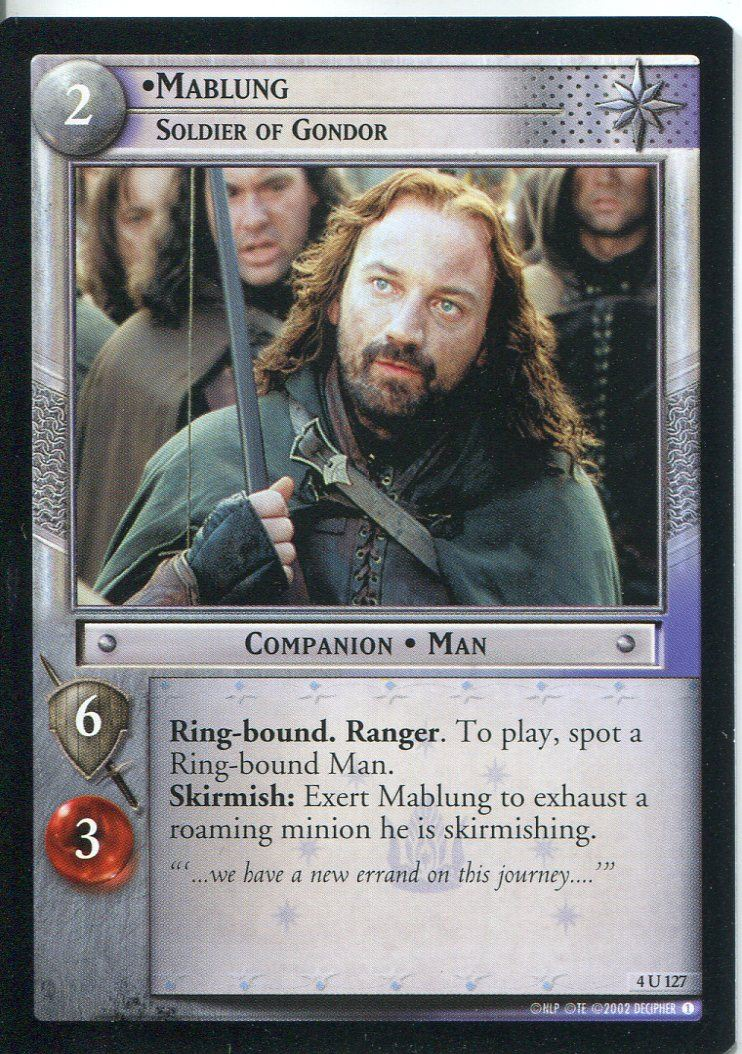Lord Of The Rings CCG Card TTT 4.U99 Roll Of Thunder