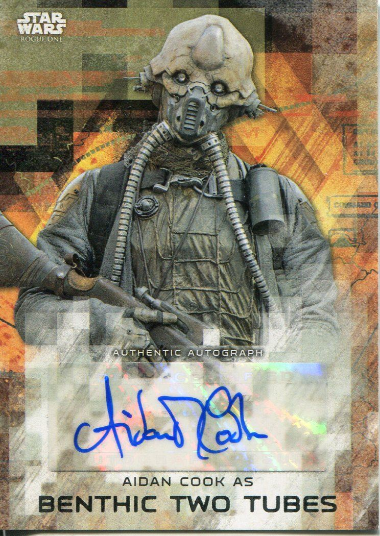 2017 Topps Star Wars Rogue One series 2 BLACK autograph Aidan Cook BENTHIC //50