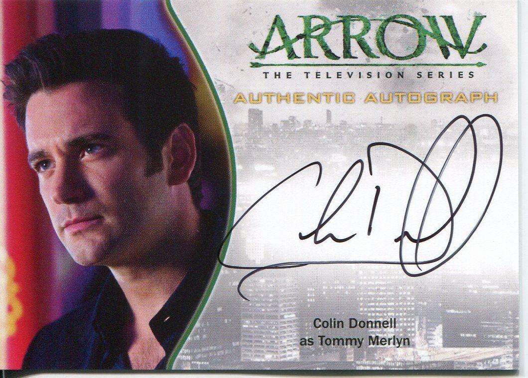 arrow season 1 autograph card a8 colin donnell as tommy merlyn