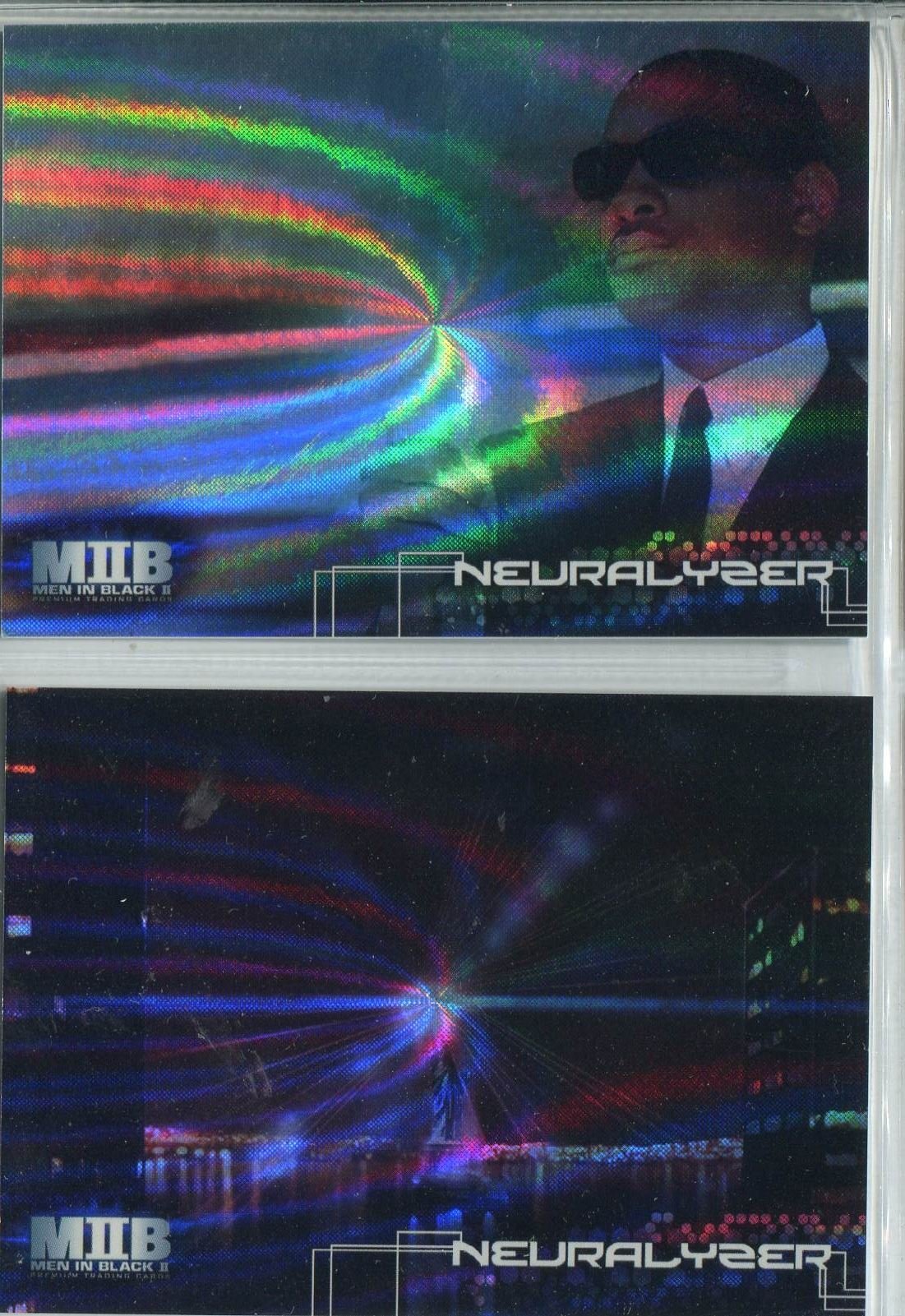 The Men In Black II Complete Neuralizer Foil Chase Card Set N1-2
