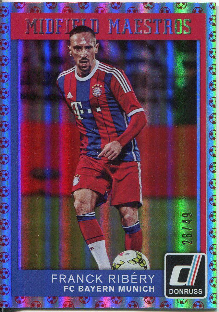 DONRUSS Soccer 2015 Midfield Maestros Chase Card #9 Franck Ribery