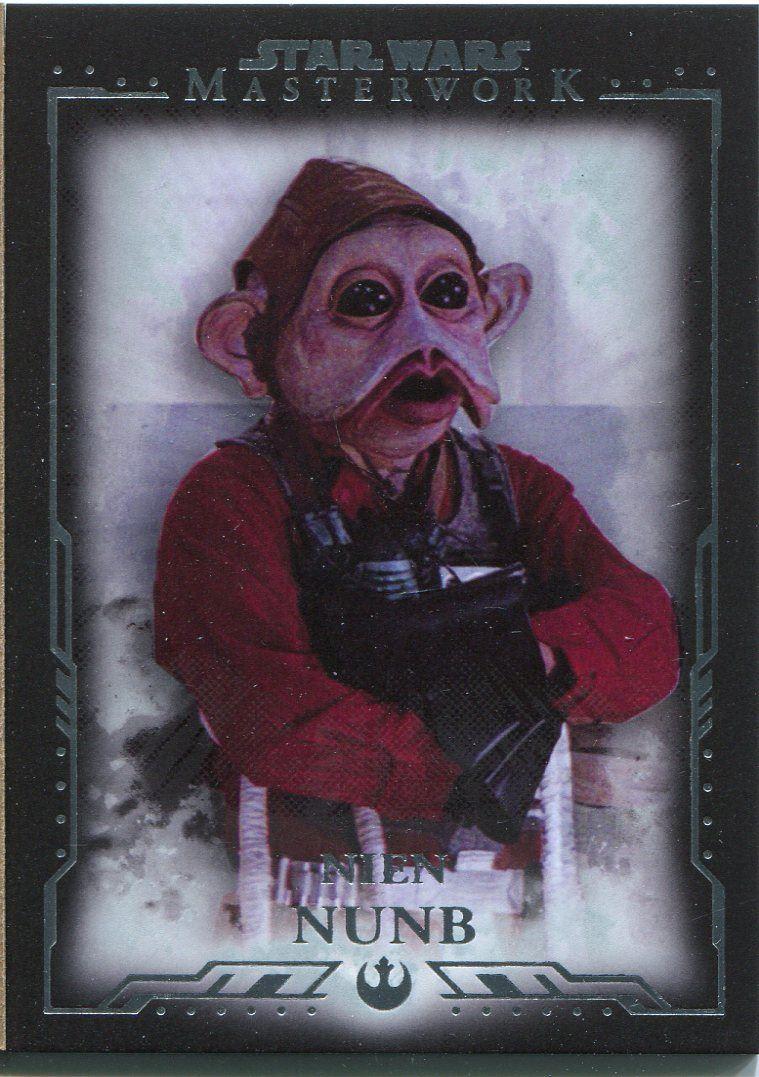 Losse kaarten 2015 Topps Star Wars Masterwork Base Card #47 Nien Nunb Star Wars