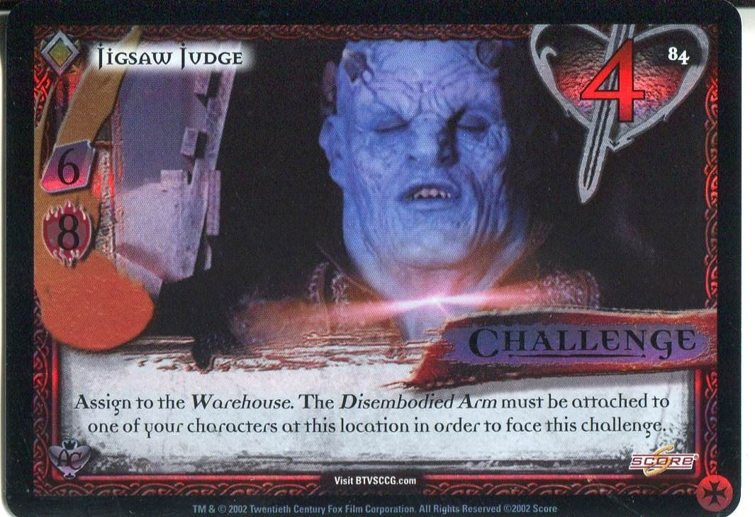 Buffy CCG TCG Angels Curse Limited Edition Card #84 Jigsaw Judge