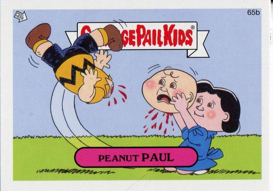 Garbage Pail Kids Mini Cards 2013 Black Parallel Base Card 70b Smashing STAN