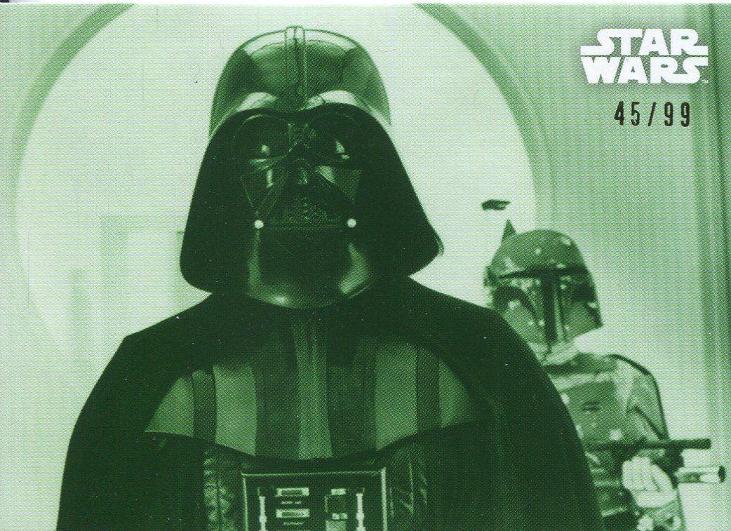 99 Star Wars ESB Black /& White Green Base Card #101 Boba Fett Reacts
